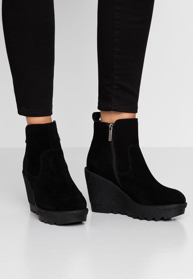 Carmela - High heeled ankle boots - black