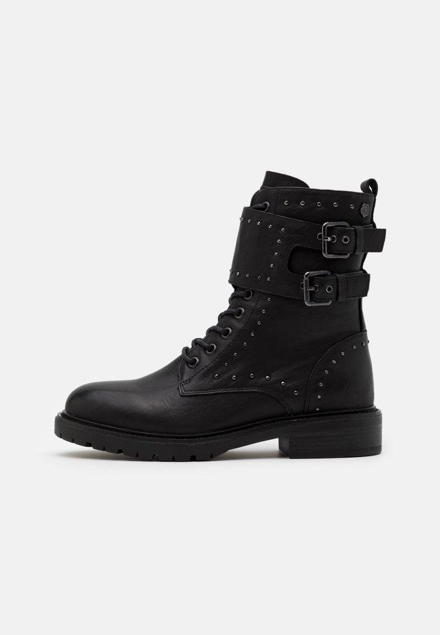 Cowboy- / bikerstøvlette - black