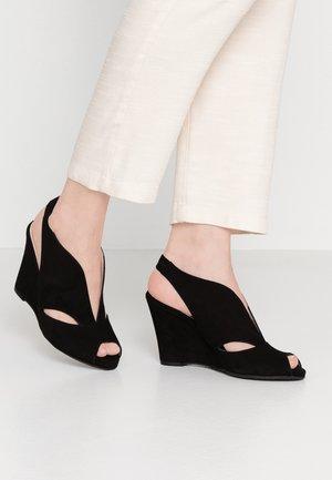 ALEXA - Høye hæler med åpen front - black