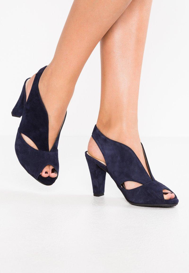 Carvela Comfort - ARABELLA - Højhælede peep-toes - navy