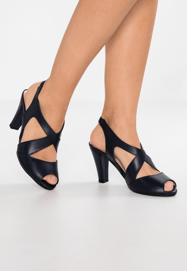 ANNABEL - High heeled sandals - navy