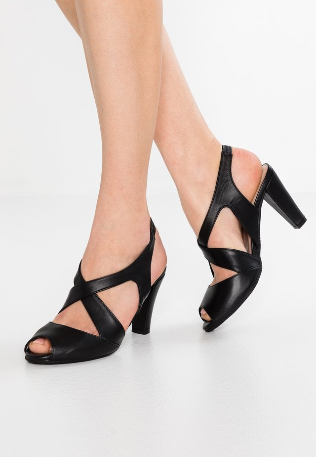 ANNABEL - High heeled sandals - black