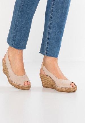 SHARON - Korkeakorkoiset sandaalit - taupe