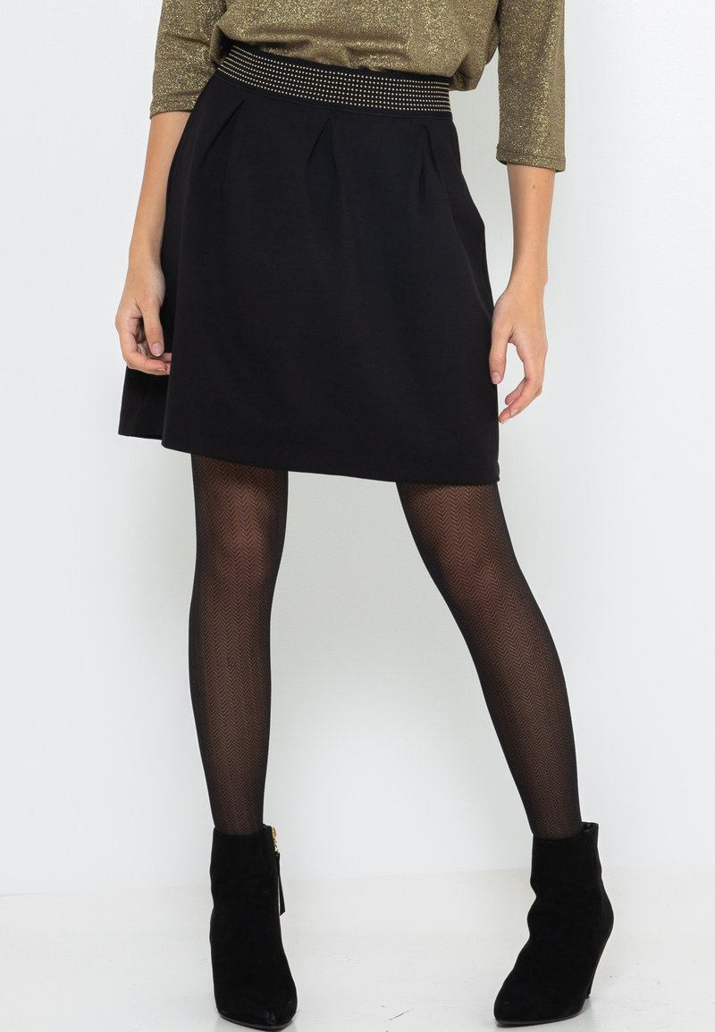 Camaïeu - Jupe trapèze - black