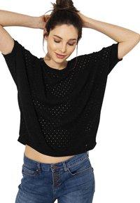 Camaïeu - T-shirt imprimé - black - 0