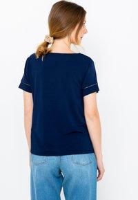 Camaïeu - COL V  - T-shirt basique - dark blue - 2