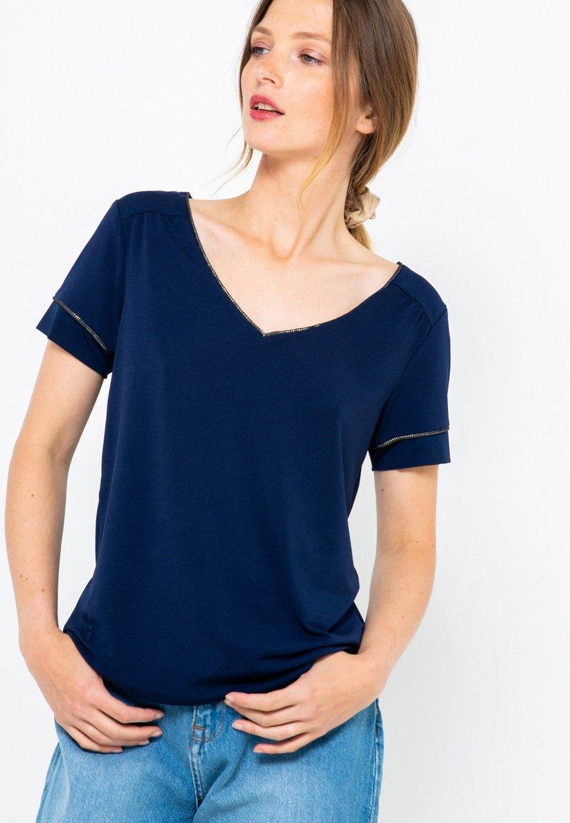 Camaïeu - COL V  - T-shirt basique - dark blue