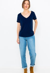 Camaïeu - COL V  - T-shirt basique - dark blue - 1