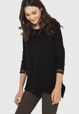 TUNIQUE MACRAMÉ  - T-shirt à manches longues - black