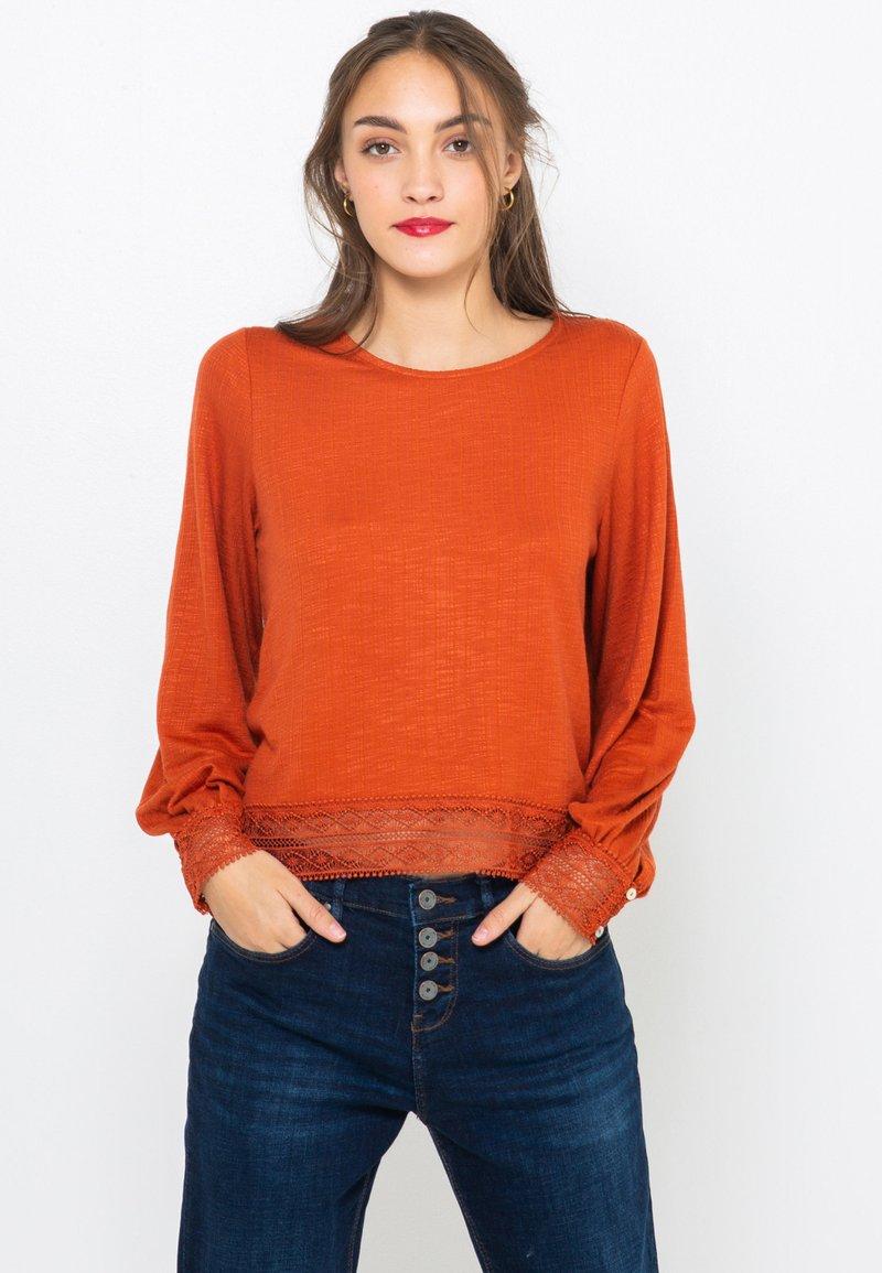 Camaïeu - T-shirt à manches longues - rust