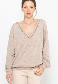 Camaïeu - T-shirt à manches longues - beige nude - 0