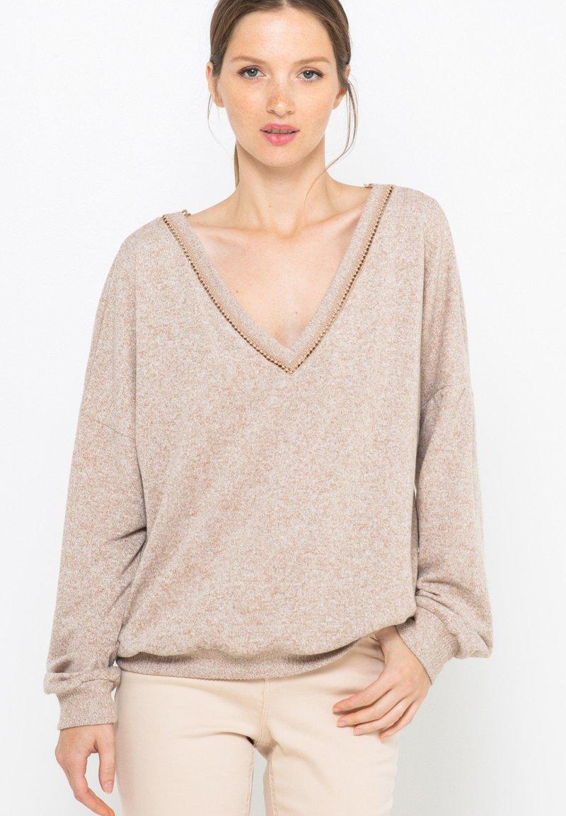 Camaïeu - T-shirt à manches longues - beige nude