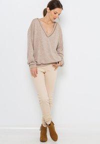 Camaïeu - T-shirt à manches longues - beige nude - 1