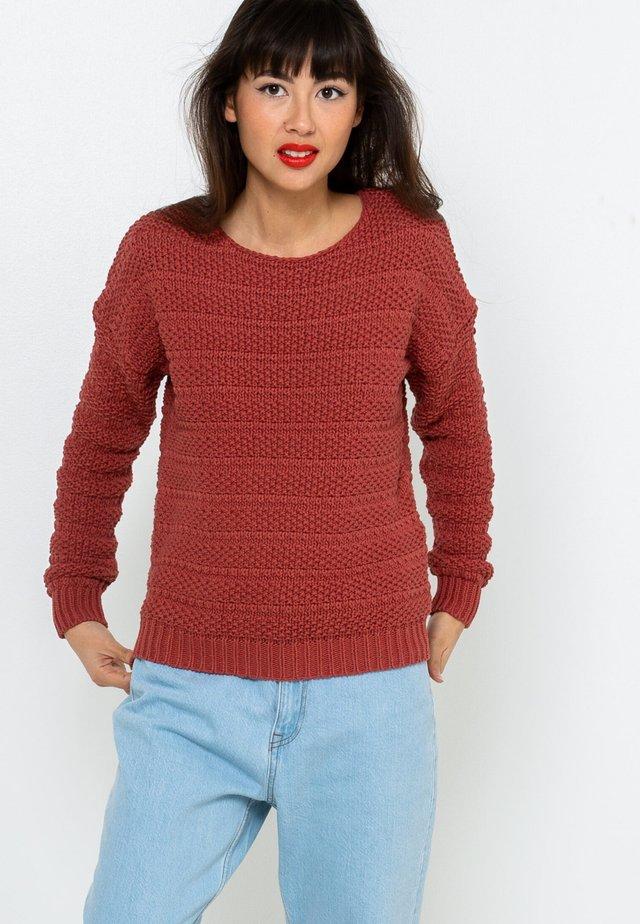 Pullover - mahogany