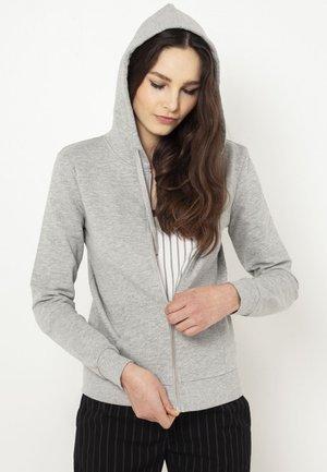 veste en sweat zippée - light grey