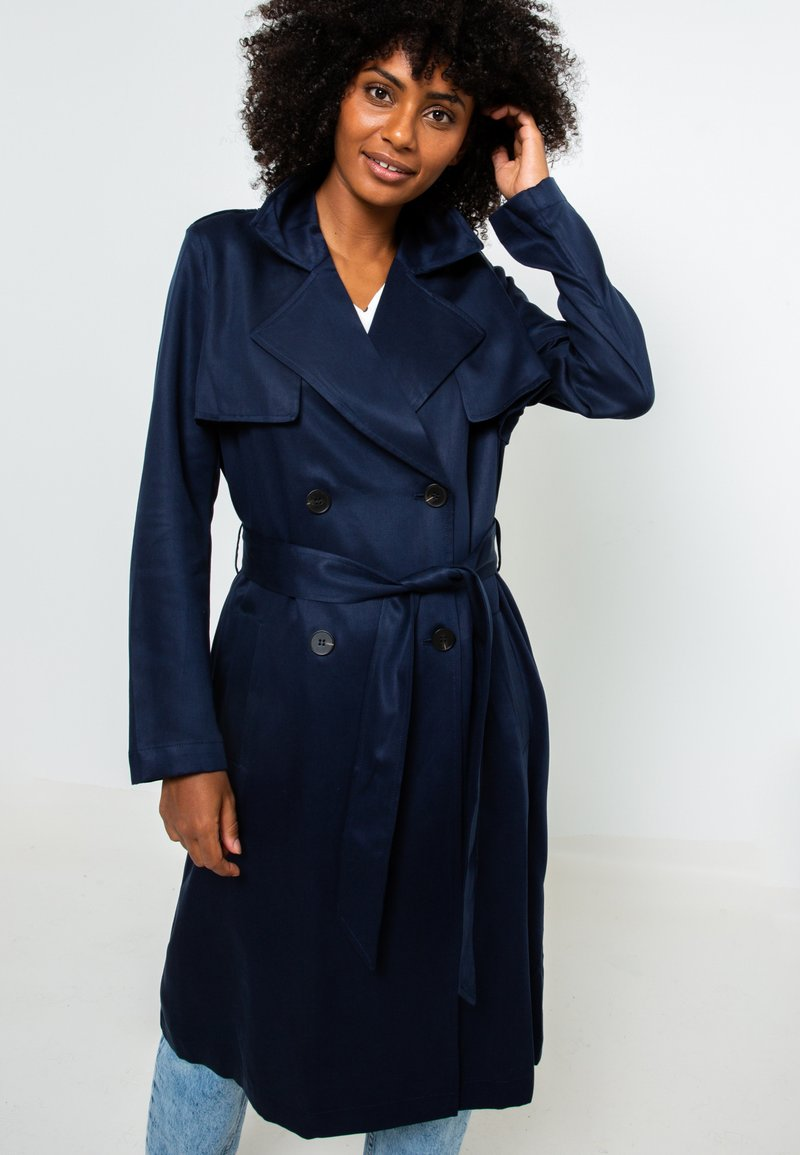 Camaïeu - RESPONSABLE - Trench - dark blue