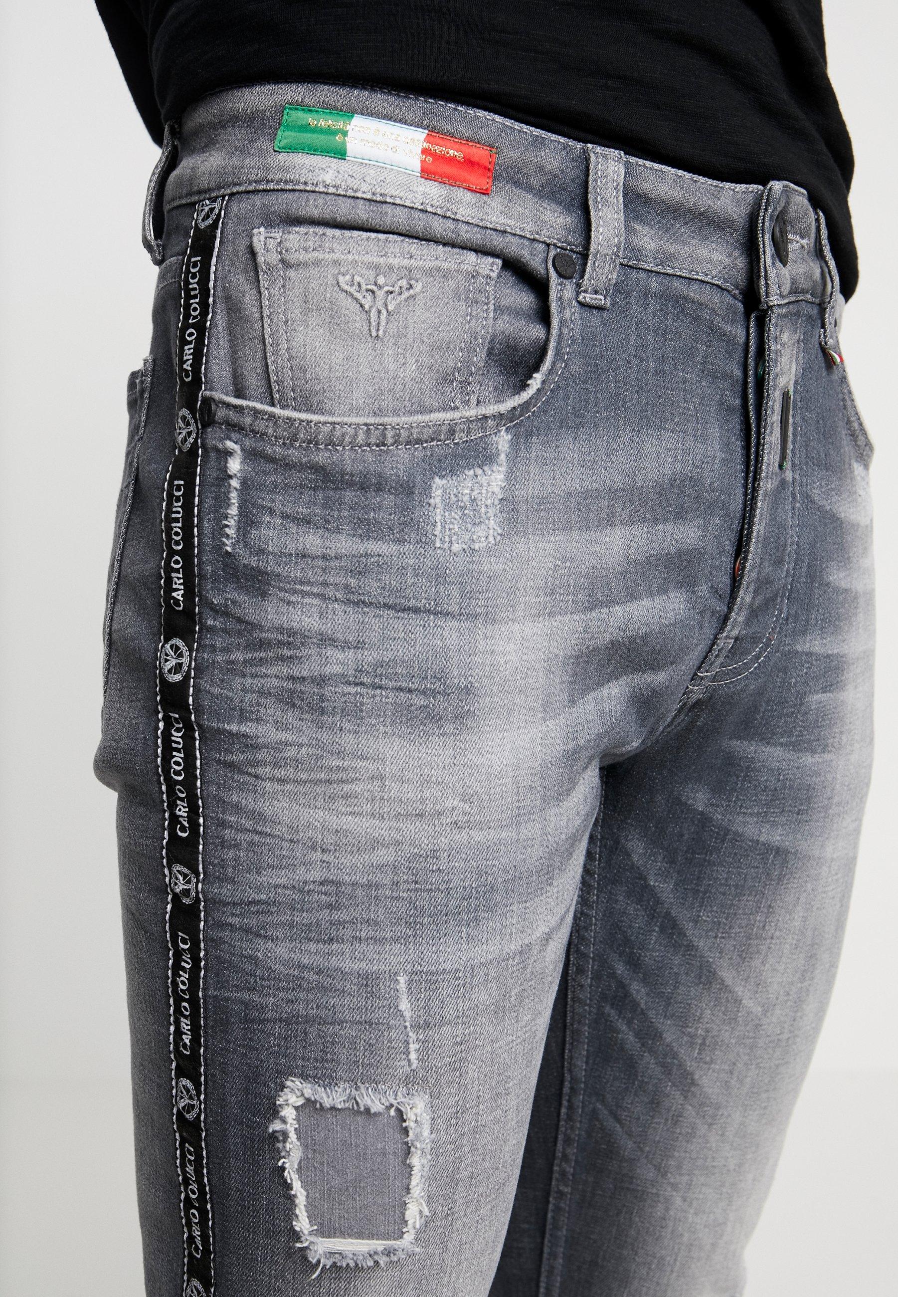 Carlo Colucci Slim Fit Jeans Grey wZPWa958 kDooyAV7