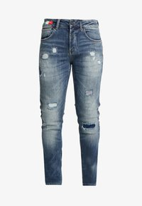 Carlo Colucci - Jeans slim fit - blue piping - 5
