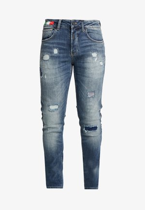 Slim fit jeans - blue piping