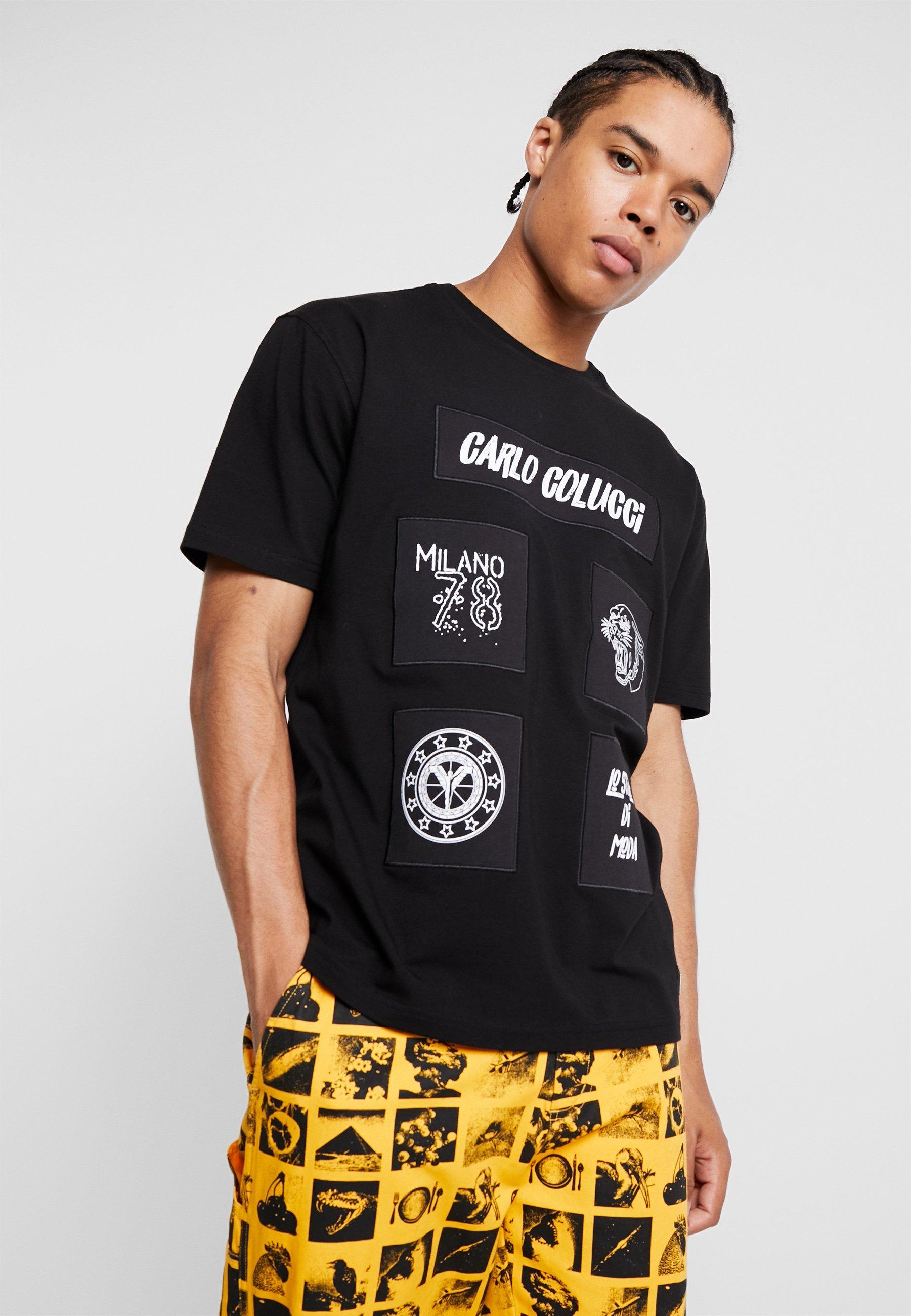 T shirt ImpriméSchwarz Carlo Colucci Carlo hrBCxsQdt