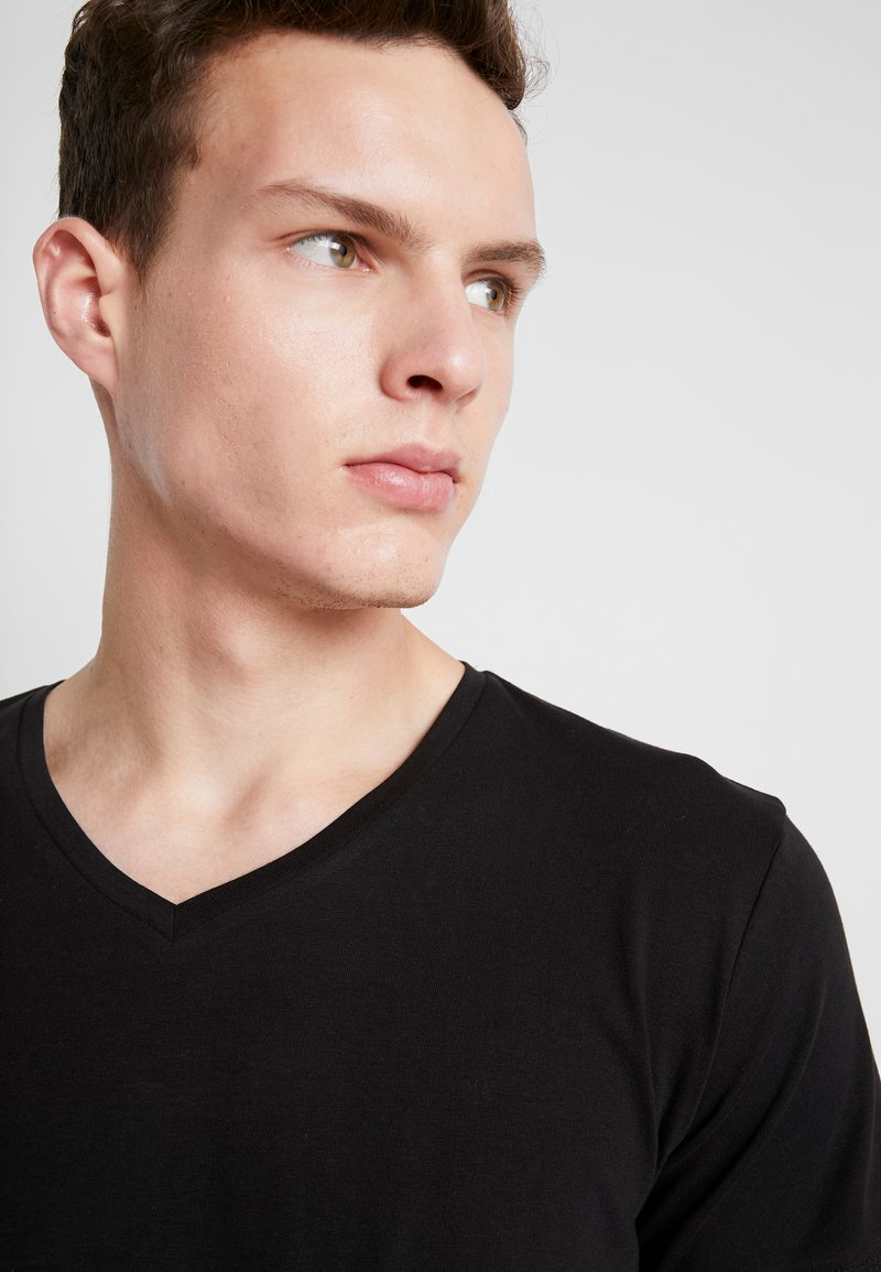 Carlo Colucci - V-NECK 2 PACK - Camiseta básica - schwarz
