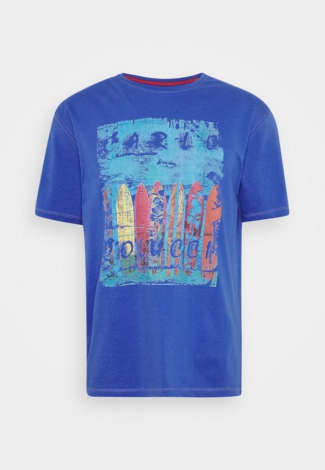 T-shirt med print - azur