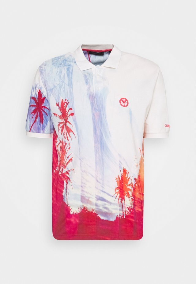 Poloshirt - red white