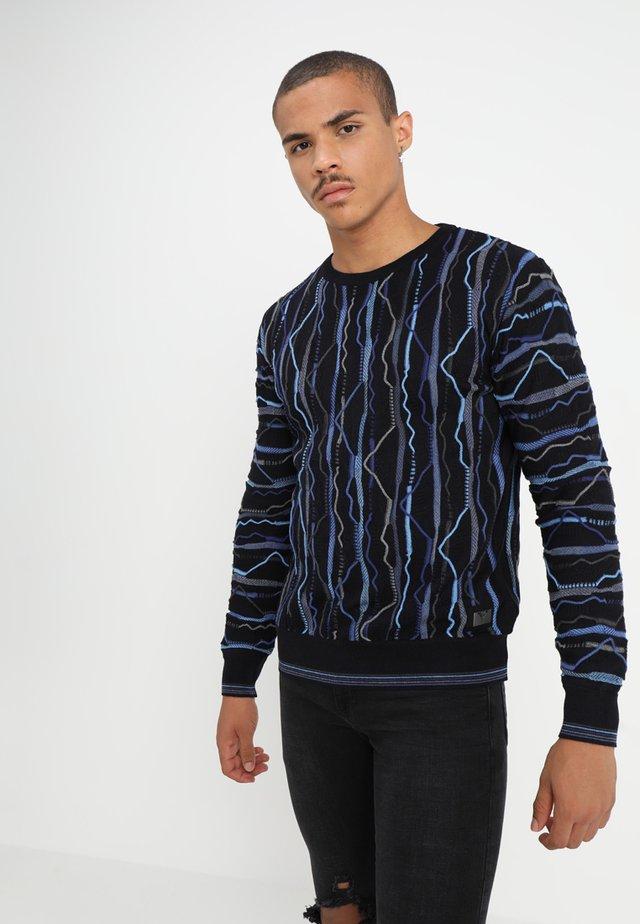 Stickad tröja - navy blau