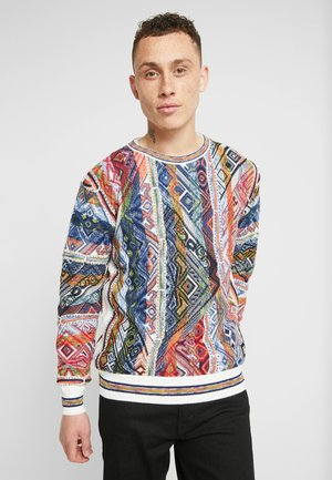 Jumper - white/multi coloured