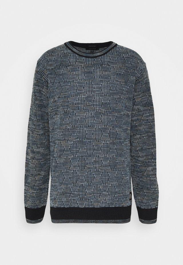 Stickad tröja - navy blue