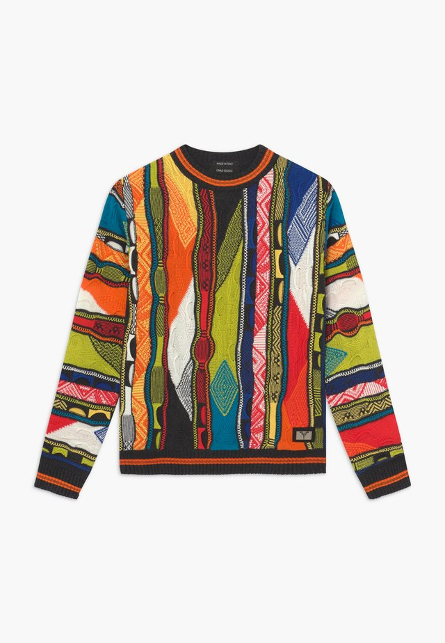 Strickpullover - black multicolour