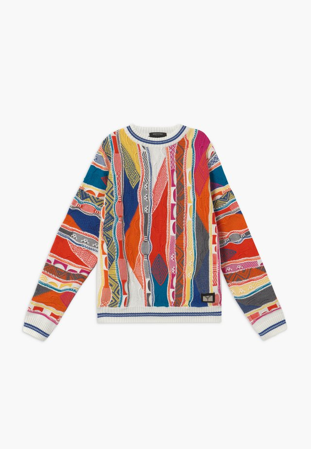 Strickpullover - white multicolour
