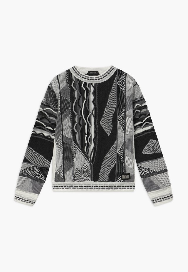 Maglione - white black grey