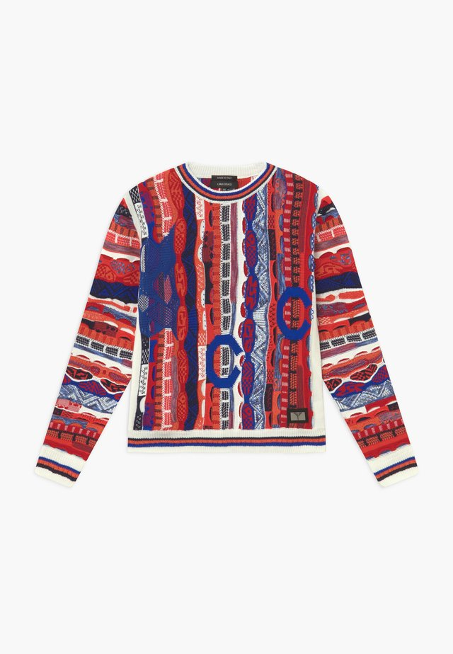 Maglione - white/red royal