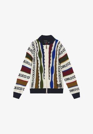 COLLEGE JACKET - Kardigan - white/multicolor