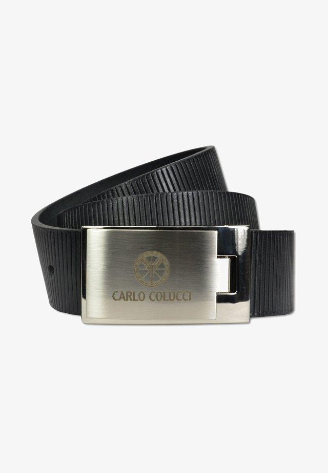 MIT RILLENPRÄGUNG,  - Belt - black