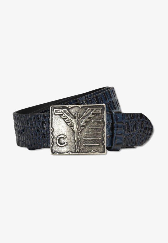 MIT KROKOPRÄGUNG - Belt - blue
