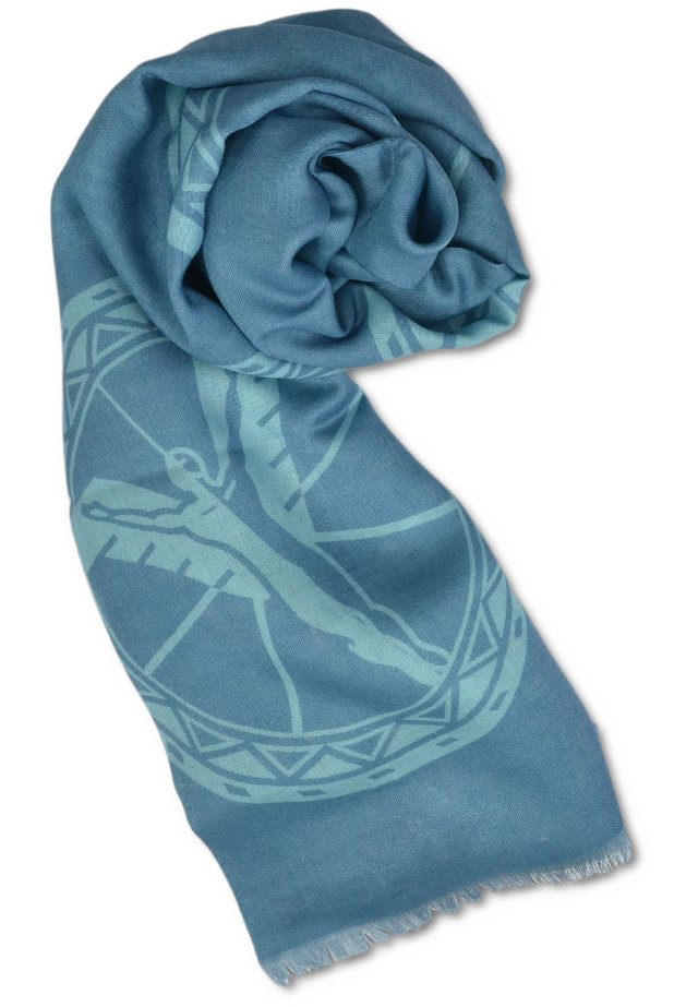LOGO-DESSIN, BLAU - Scarf - blau