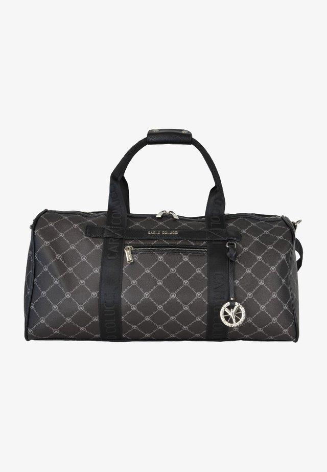 MIT LOGO-PRINT - Weekend bag - schwarz