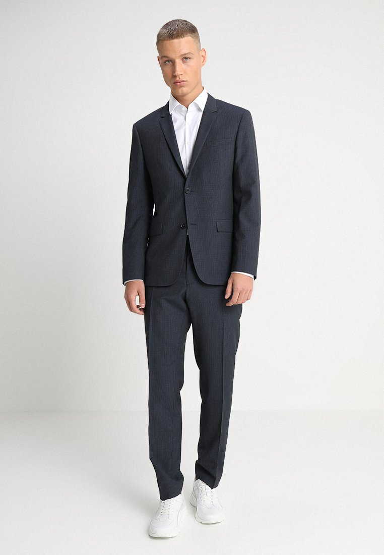 Calvin Klein Tailored - GRIDED TWO TONE SUIT - Oblek - blue