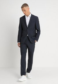 Calvin Klein Tailored - GRIDED TWO TONE SUIT - Oblek - blue - 1