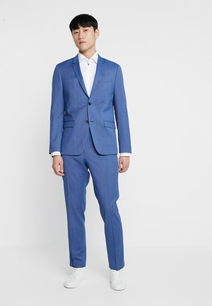 STRETCH MICRO FITTED SUIT - Oblek - blue