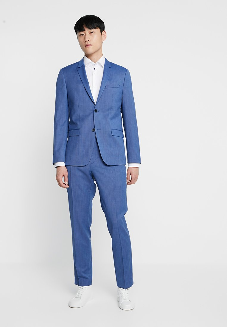 Calvin Klein Tailored - STRETCH MICRO FITTED SUIT - Anzug - blue