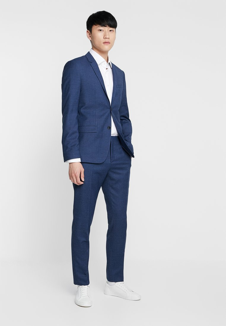 Calvin Klein Tailored - BIRDSEYE STRETCH FITTED SUIT - Completo - blue