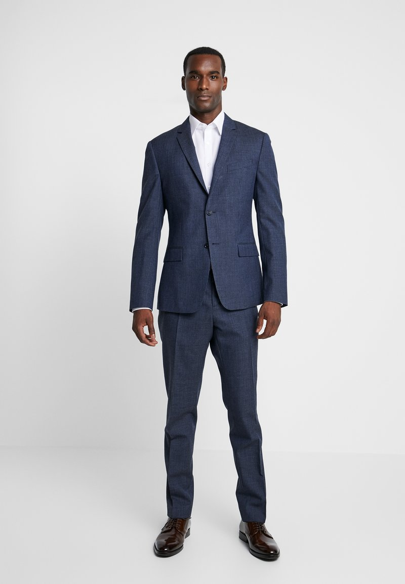 Calvin Klein Tailored - HOUNDSTOOTH SLIM - Oblek - blue