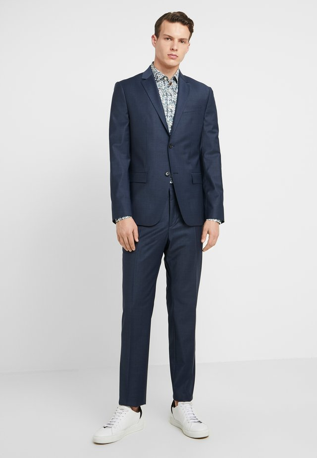 BISTRETCH SMALL GRID - Suit - blue