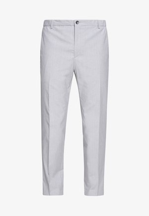 SUMMER CHAMBRAY PANTS - Suit trousers - grey