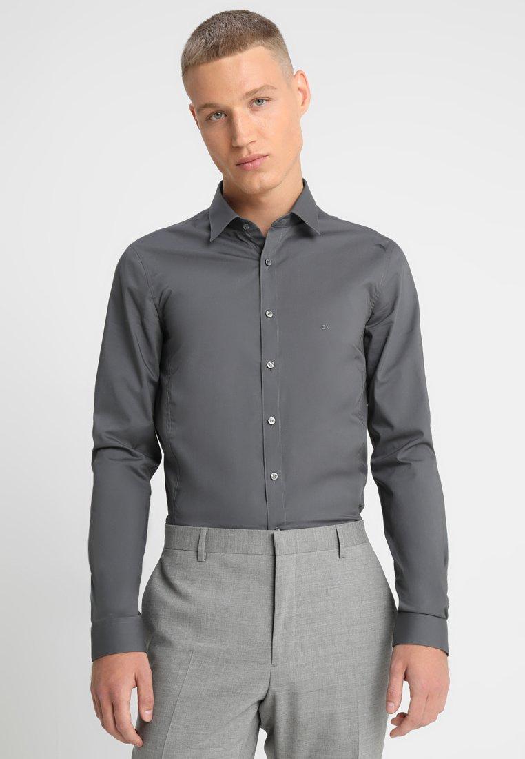 Calvin Klein Tailored - EXTRA SLIM - Koszula biznesowa - grey