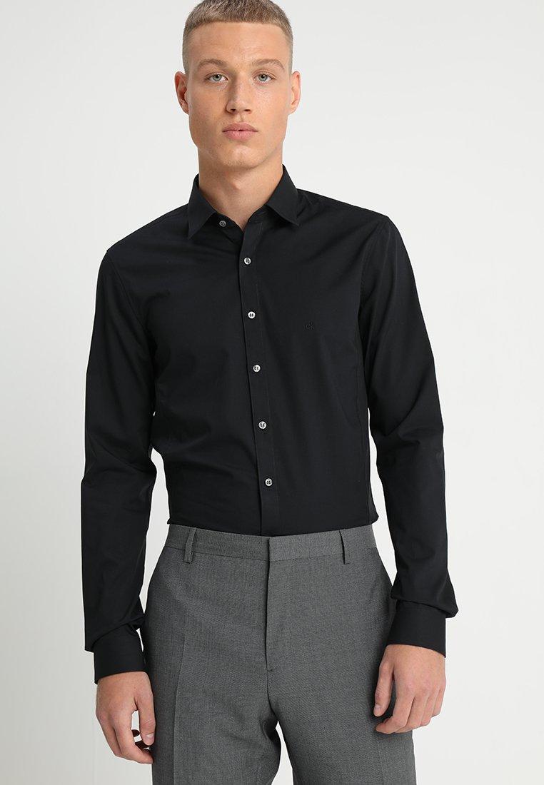 Calvin Klein Tailored - EXTRA SLIM - Zakelijk overhemd - black