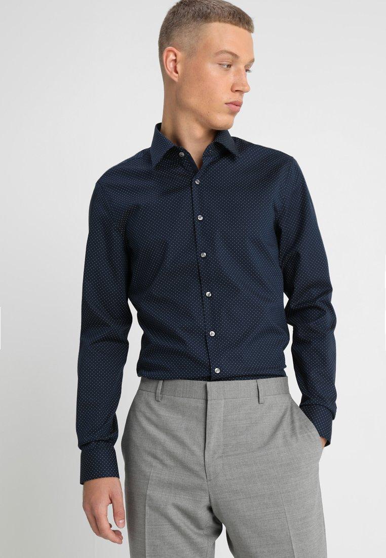 Calvin Klein Tailored - PRINTED STRETCH SLIM - Zakelijk overhemd - blue